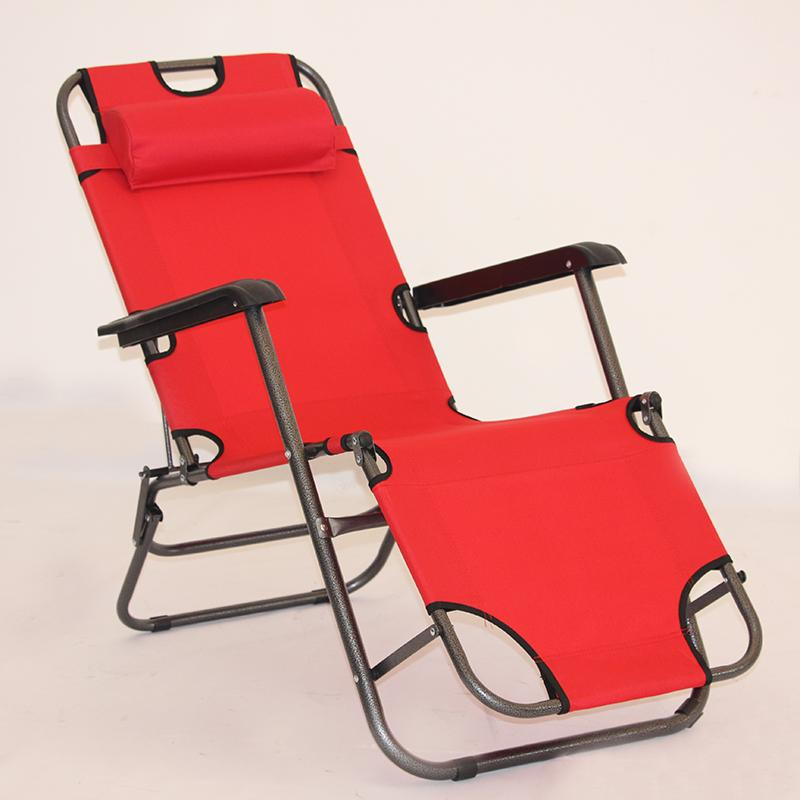 Recliner folding chair lunch lounge chair lunch folding bed casual back lazy sofa home balcony portable chair