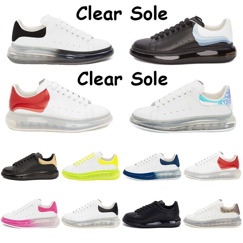 Nouvelle plate-forme Chaussures semelle transparente Chaussures Casual Noir Triple Blanc Métallisée Université Or Rouge Volt Rose Violet Outdoor Chaussures Hommes Chaussures