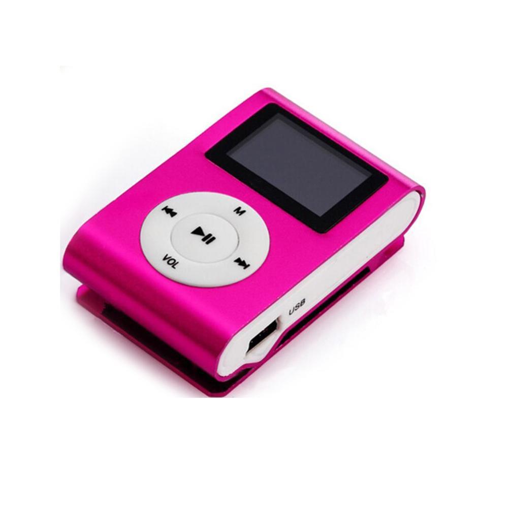 Mini Clip Lecteur MP3 sans Couleurs d'écran Prise en charge de la carte Micro SD TF avec écouteurs Écouteurs Câbles USB Boîte de distribution DHL expédition