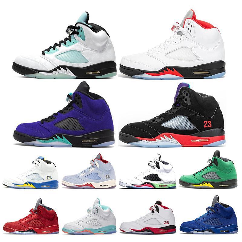 2020 5 5s Mens Basketball Shoes Island