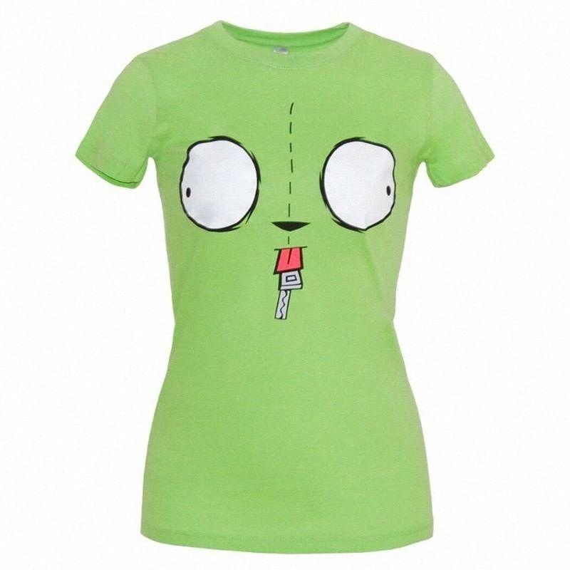 Invasor Zim Gir cara Junior T tapas de la camisa Camiseta de la personalidad 6qMK Custom #