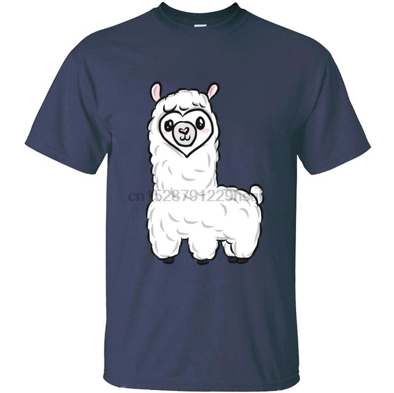 Llama nueva camiseta para hombre Camiseta para los hombres camiseta para hombres de color sólido del O-Cuello de verano de hombres grandes dimensiones 2020 Diseño Tops