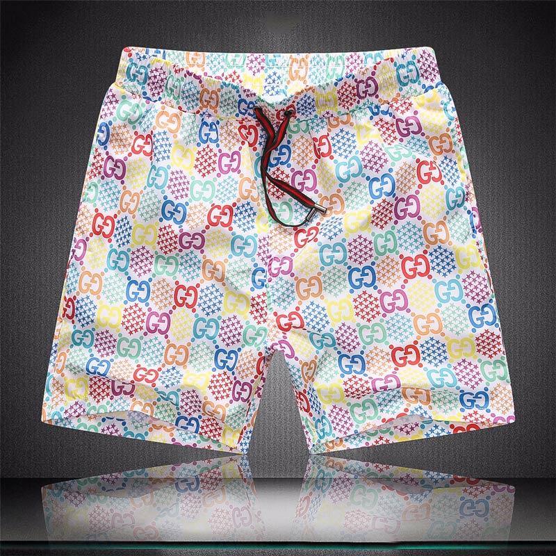 Erkek Yaz Tasarımcı Şort Günlük Spor Pantolon Yaz Hızlı Kurutma Erkek Plaj Pantolon Siyah ve Beyaz Asyalı Boyut M-3XL