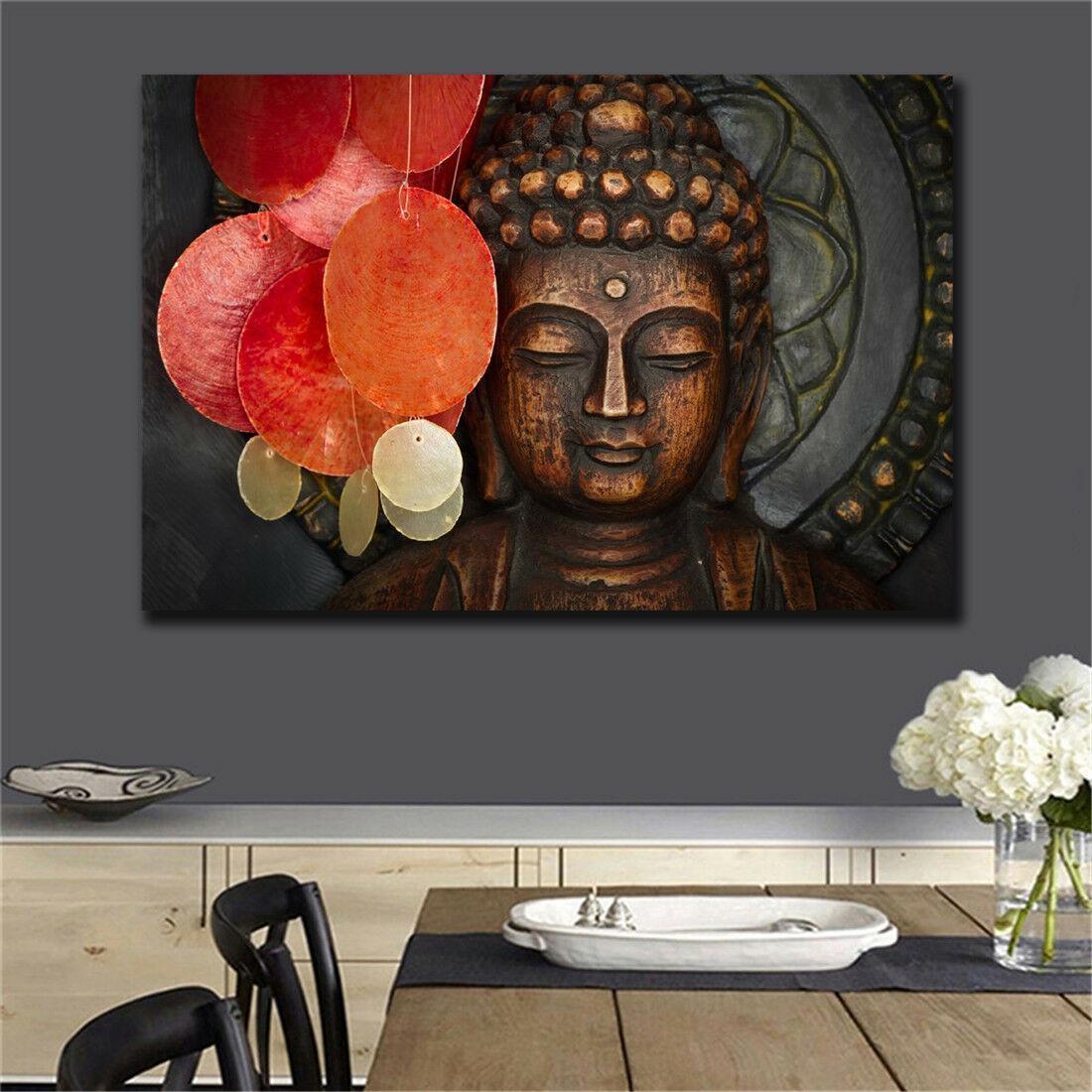 Statue de Bouddha méditation Home Décor peint à la main HD Imprimer Peintures à l'huile sur toile Wall Art Photos 200727