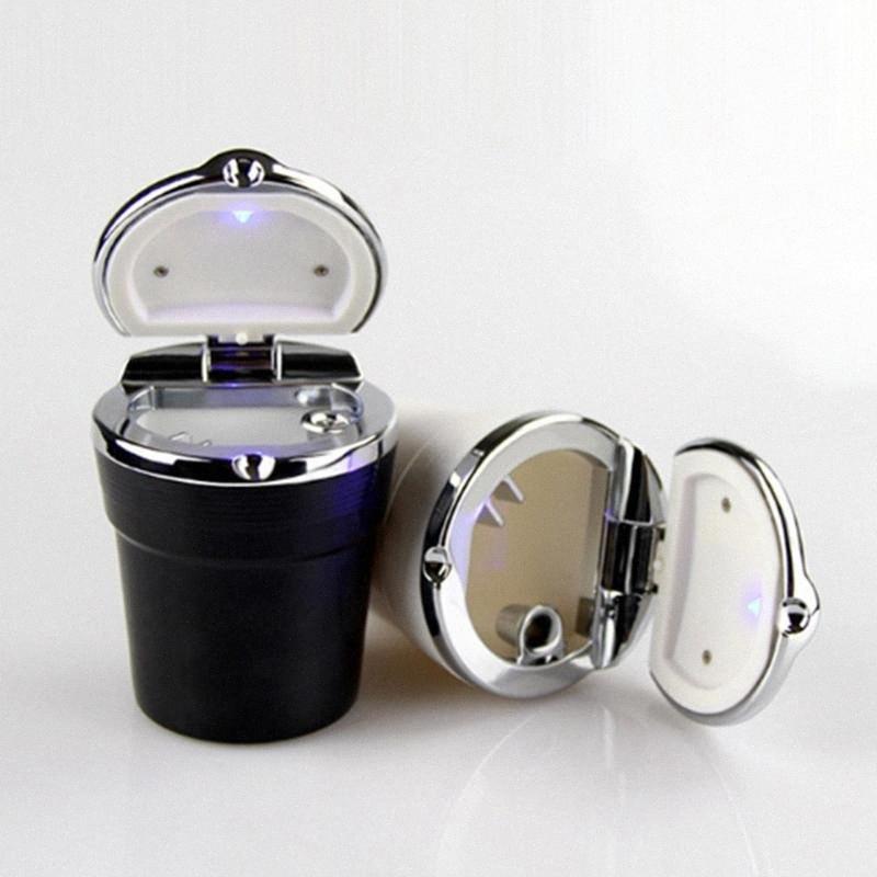 Пепельница с LED Light Портативный Дым сигареты автомобиля бездымный дым подстаканник хранения Автоаксессуары F6iT #