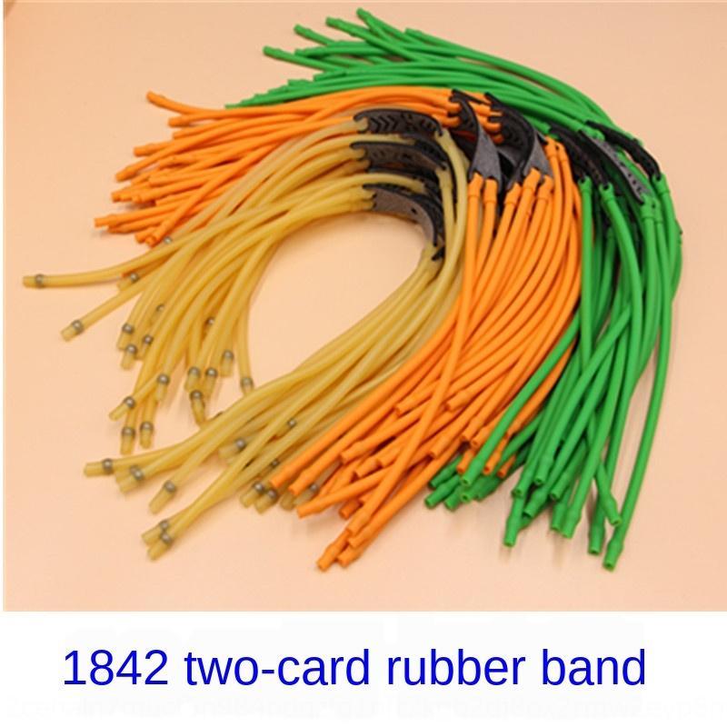 1842 kaki 4-brin kaki 2-carte caoutchouc de bande double brin élastique de bandspring tube de latex de haute qualité