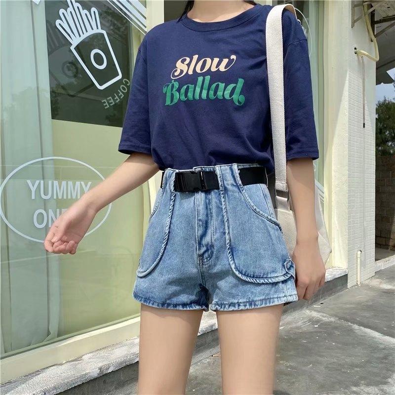Высокая талия вскользь для женщин 2020 и джинсы шорт и джинсы новых горячих брюк для похудания свободных карманных шорт широких ног керлинга штаны