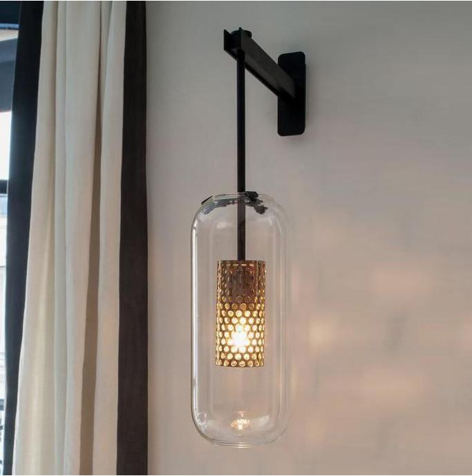 Postmodern duvar lambası basit led oturma odası duvar lambası yatak odası başucu lambası yaratıcı koridor otel koridor aydınlatma