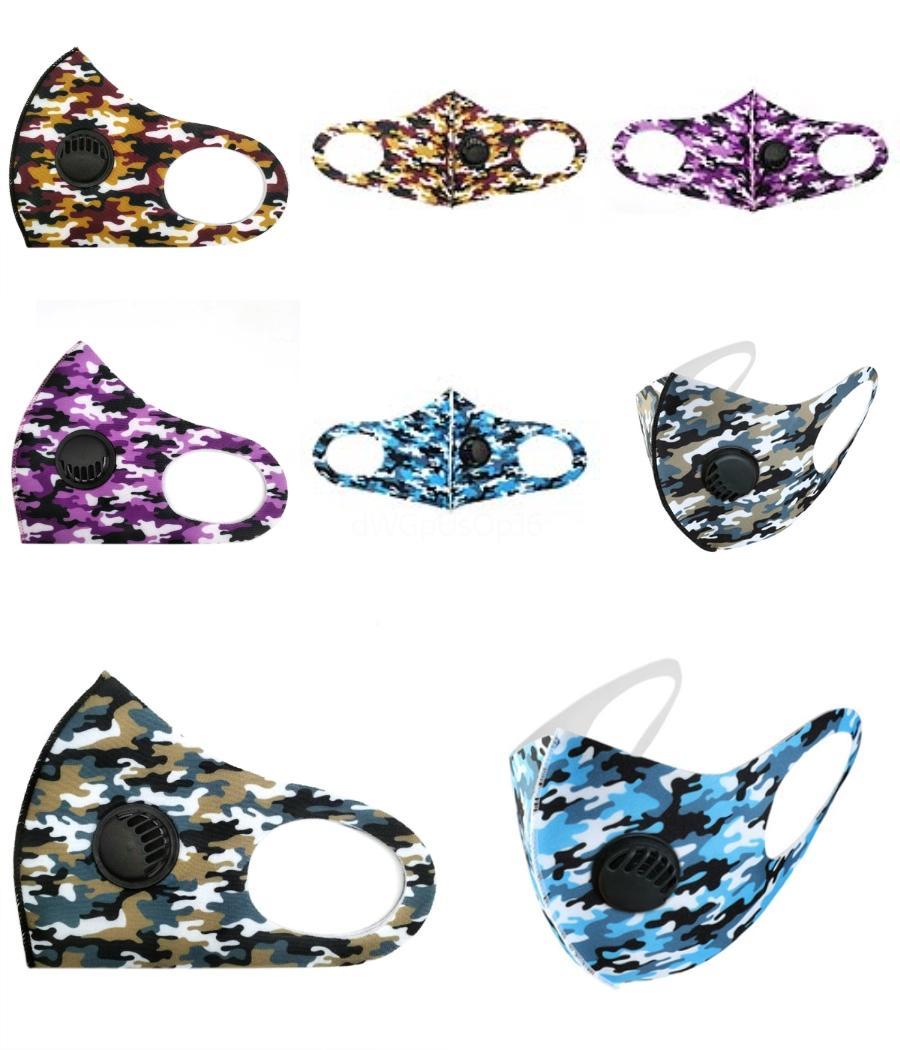Die neue Fabrik direkt Cross Border modische Männer und Frauen mit Pailletten Masken Sommer-Eis-Silk Schwamm Staubmasken Designer Masken # 160