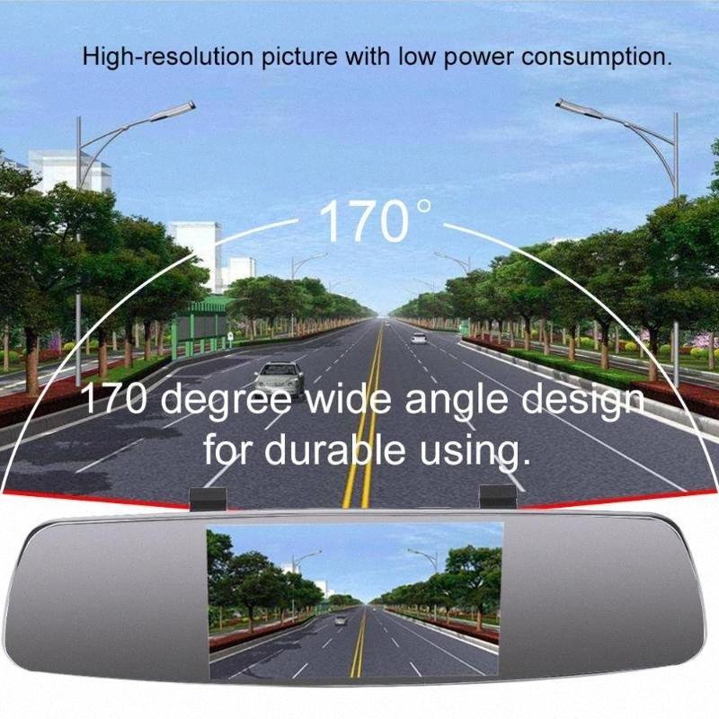 ZYD439E 4.3 pollici auto MP5 retrovisore monitor HD Parcheggio per automobili monitor di visione notturna di sostegno di parcheggio di assistenza Camera ItKm #