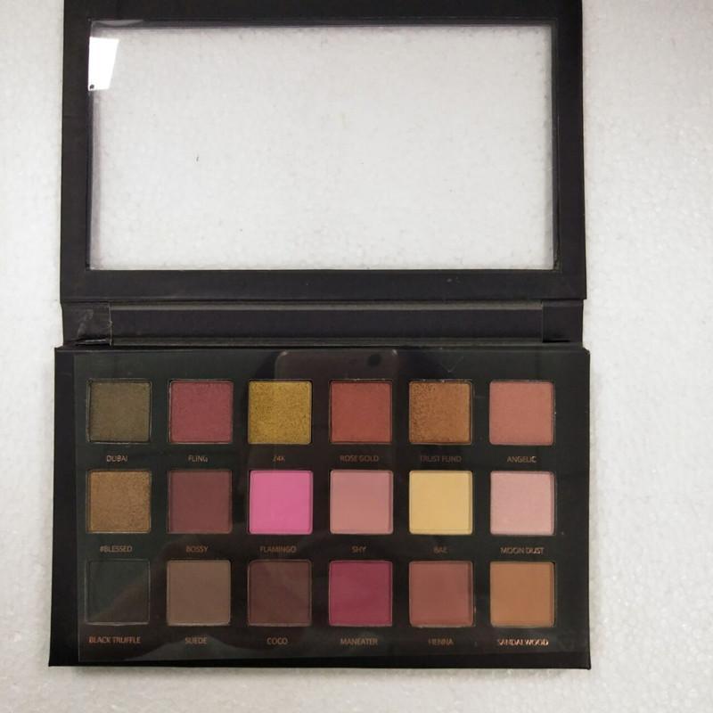 Yeni 18 Renkler Göz Farı Paleti Rose Gold Dokulu Paleti Makyaj Göz Güzellik Paleti Mat Işıltılı Kozmetik gölge