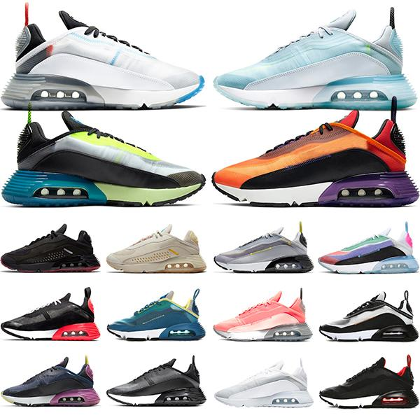 2090 개 실행 신발 남성 여성 스니커즈 순수 백금은 진정한 마그마 오렌지 광자 먼지 배 블랙 화이트 데 CHAUSSURES 트레이너 스포츠 자란