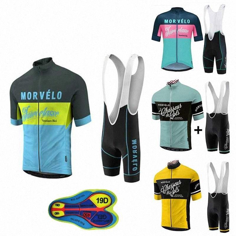 2020 2020 Nueva Morvelo sistemas del verano de la ropa de ciclo la ropa de ciclo kits de manga corta del babero del verano del Mens Desde Java2013, $ 15.36 | D # 9Ila
