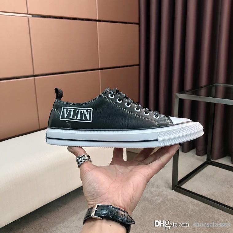 Valentino shoes 2020 Moda erkek Eğitmenler Kadife Dana derisi Platformu Sneaker Arena Hafif Siyah Fildişi Sneaker ht200412