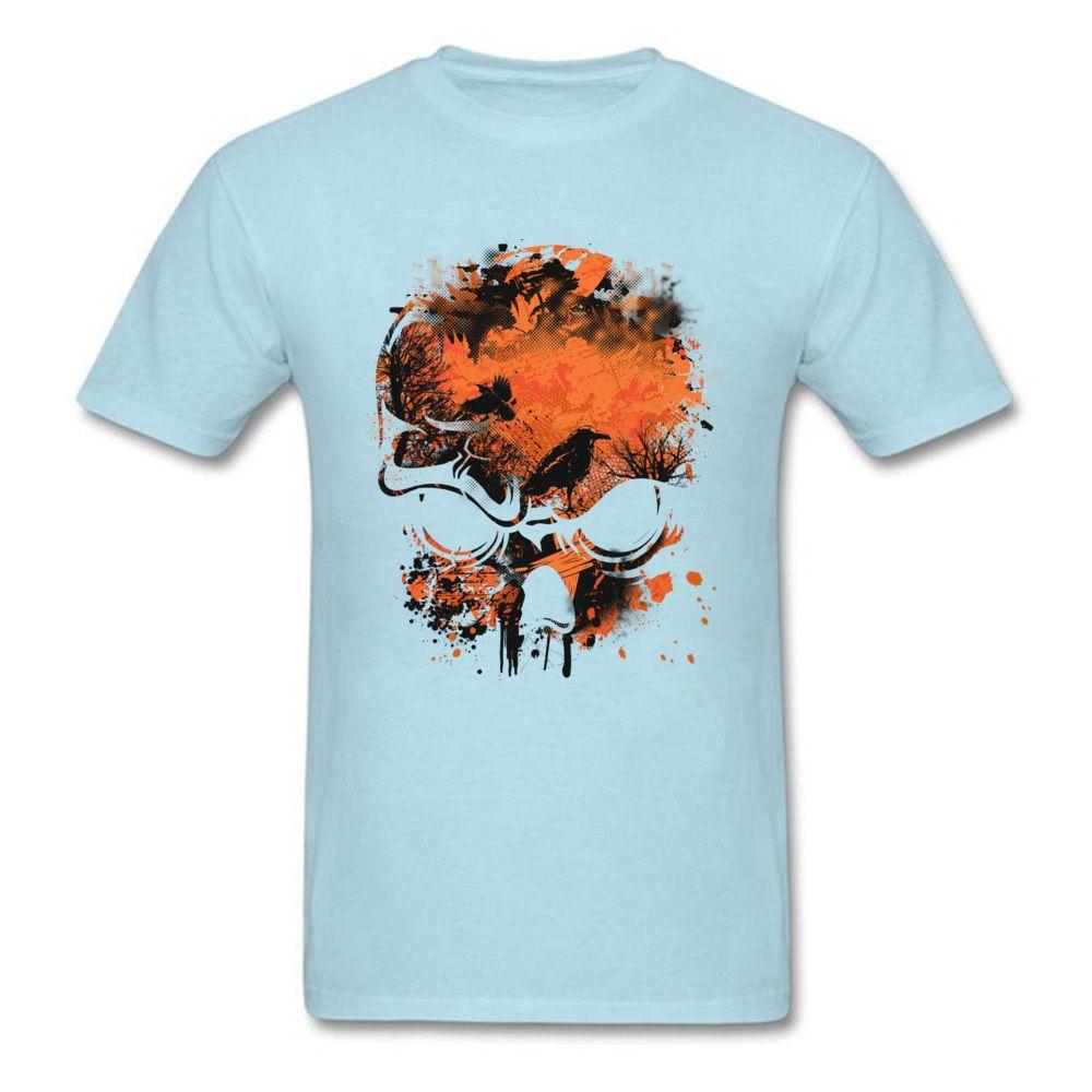 Natural normale T-shirt manica corta 2020 Autunno nuovo arrivo puro cotone Mens Top magliette Wicked Skull corvi Albero di Natale Tshirt