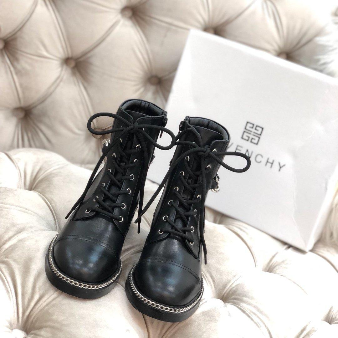 2020 Herbst neue Schuhe der Art und Weise der ledernen Frauen dick mit Ankle-Boot, Casual wildem Martin Stiefel, Original-Box-Verpackung Lieferung