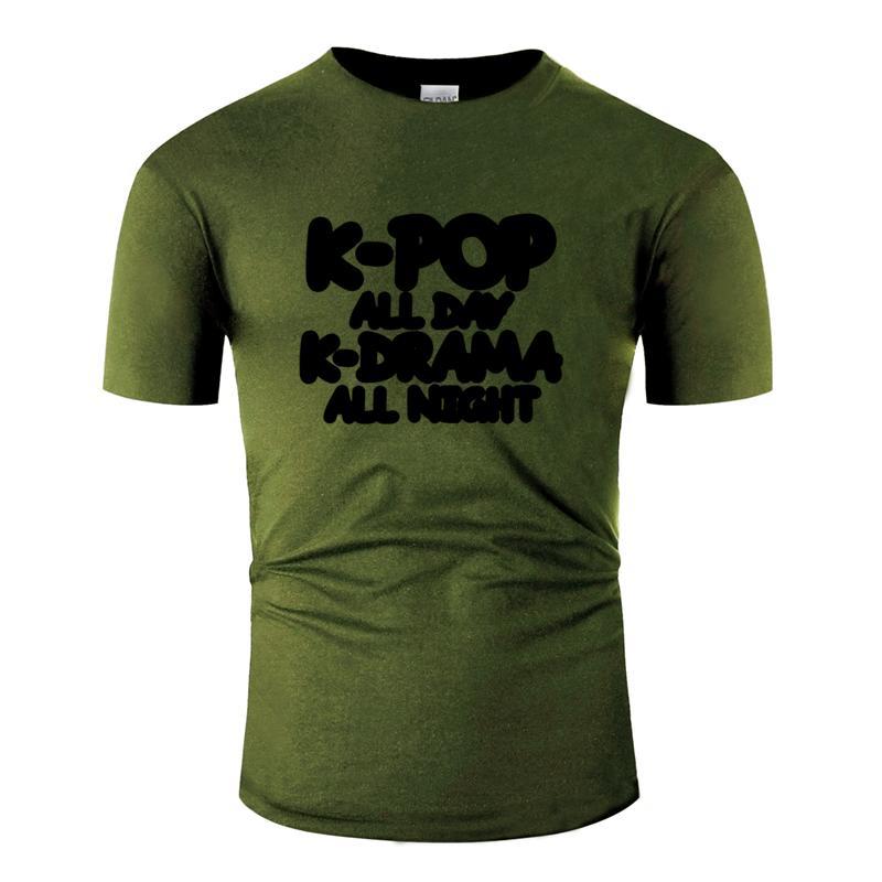 Cadeau Respirant K Pop personnalisée: K Pop All Day T-shirt Homme Tendance Homme T-shirt taille impressionnante de marque vêtements S-5XL