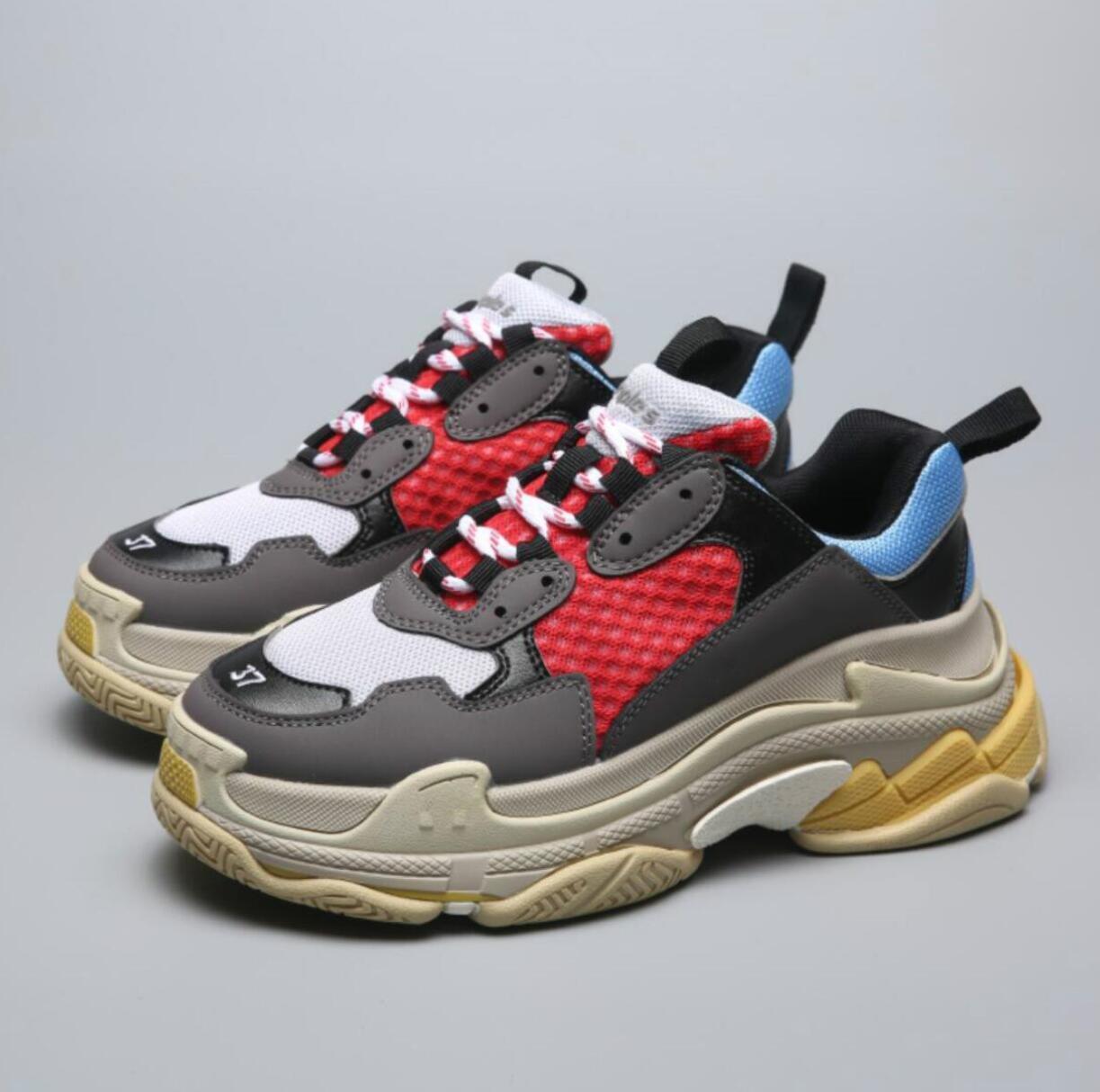 esportes sapatos de plataforma Paris mens sandálias, cunha vestido Cores Grosso vovô instrutor calçados casuais v9