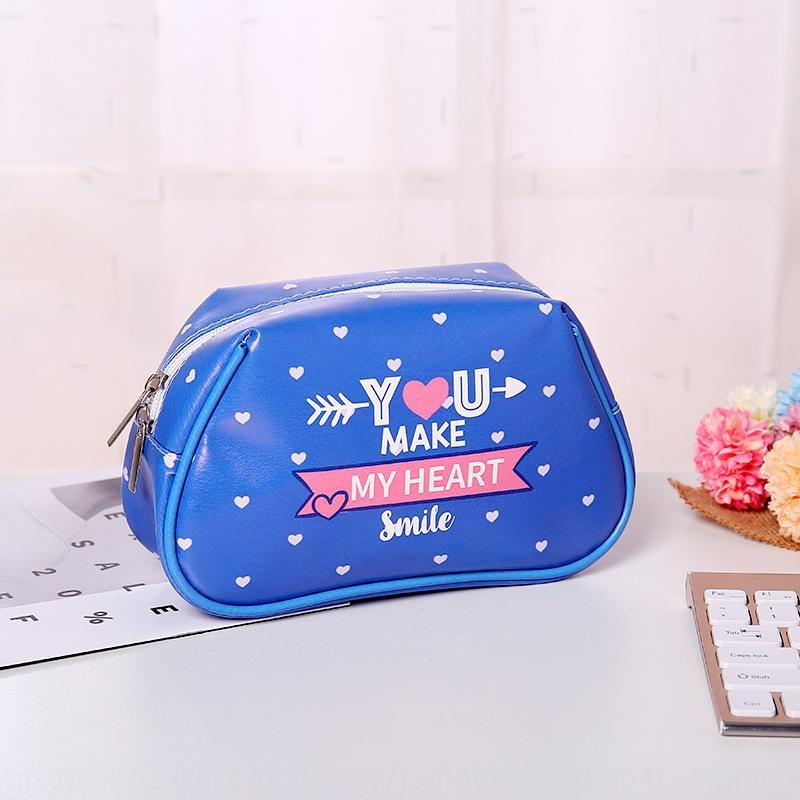 Coréen nouveau maquillage de style Wash femmes cosmétique cosmétique extérieur Voyage sac lavage lettre sac de maquillage de mode
