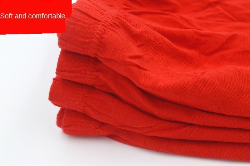 año rojo calzoncillos y ropa interior de algodón ropa interior de algodón triángulo mediados de cintura grandes escritos grandes 5Xl6H de los hombres rojos de los hombres de tamaño