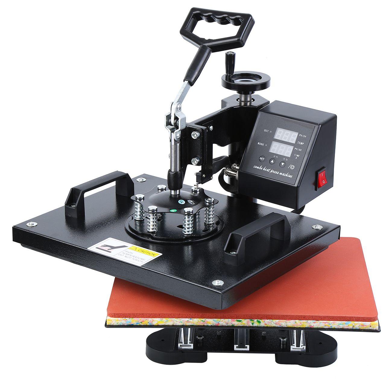 وظيفة واحدة 1400W الحرارة الصحافة صورة تي شيرت التسامي آلة نقل 30x38 سنتيمتر الساخنة الصحافة الملابس آلة الطباعة