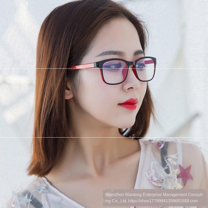 aV3qs Miyop camlar düz ile donatılmış miyopi olabilir gözlüğü anti-radyasyon bilgisayar hiçbir derece dişi cep telefonu karşıtı mavi ligh gözlük