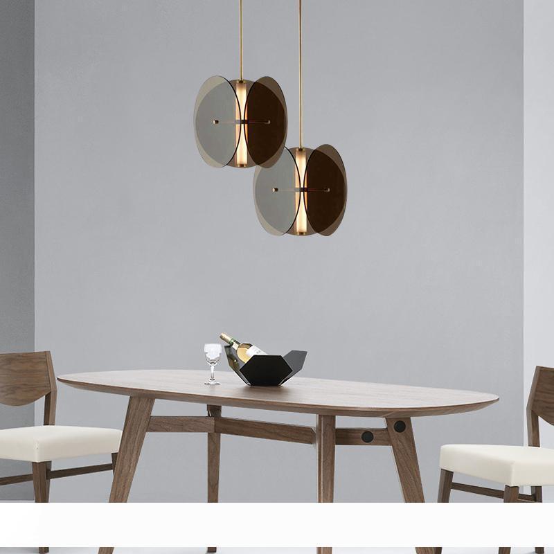 Современное стекло Подвесной Лампы Творческий стекла Спальня Рядом Прихожая Бар? Встречное Диван Гостиная розеткой Светодиодные светильники
