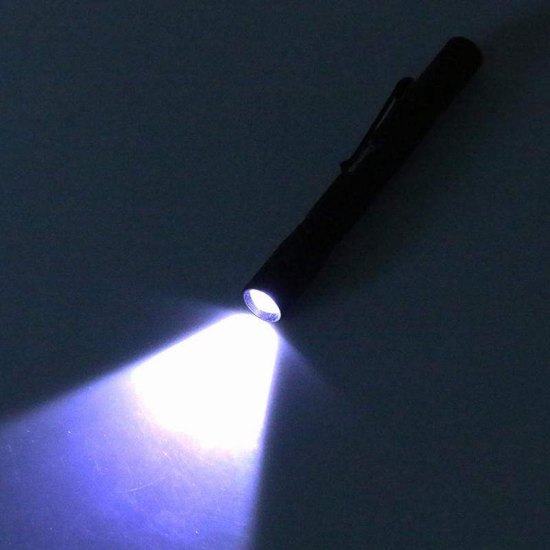 Skywolfeye Small Bright Night Work Light Torch Lamp Handheld Pen Light Strobe Focusable