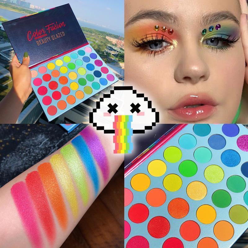 Sırlı Güzellik 39 renk mat flaş floresan göz farı disk gökkuşağı disk parlak gölge disk düzeni TSLM2