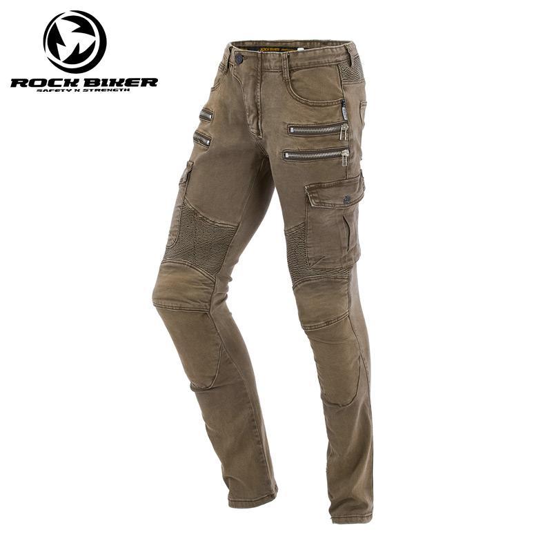 Kaya Biker Motosiklet Binme Pantolon Günlük Bırak Dayanıklı Giyilebilir İnce Motokros Yarışı Koruyucu Pantolon Erkek Motobike Jeans