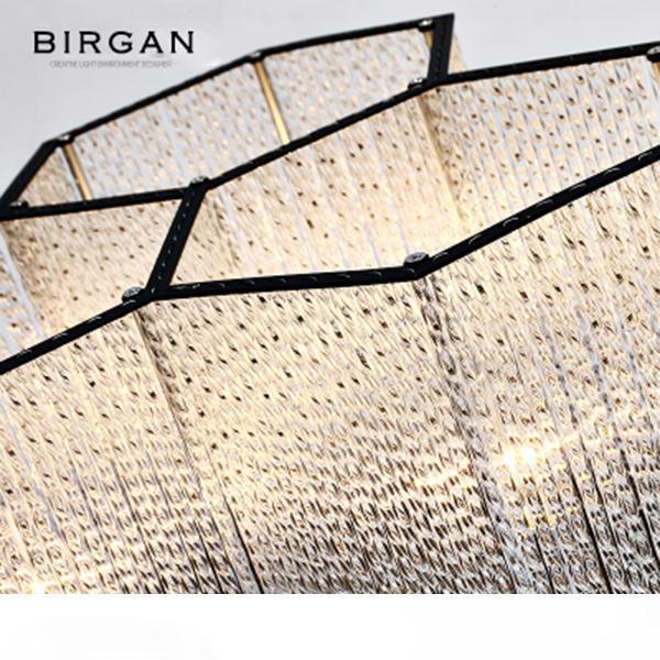 LED Soffitto moderna lampada della luce di Hexagon pendente di cristallo incasso per le lampade per Soggiorno Camera da letto Cafe Bar Lampada da soffitto