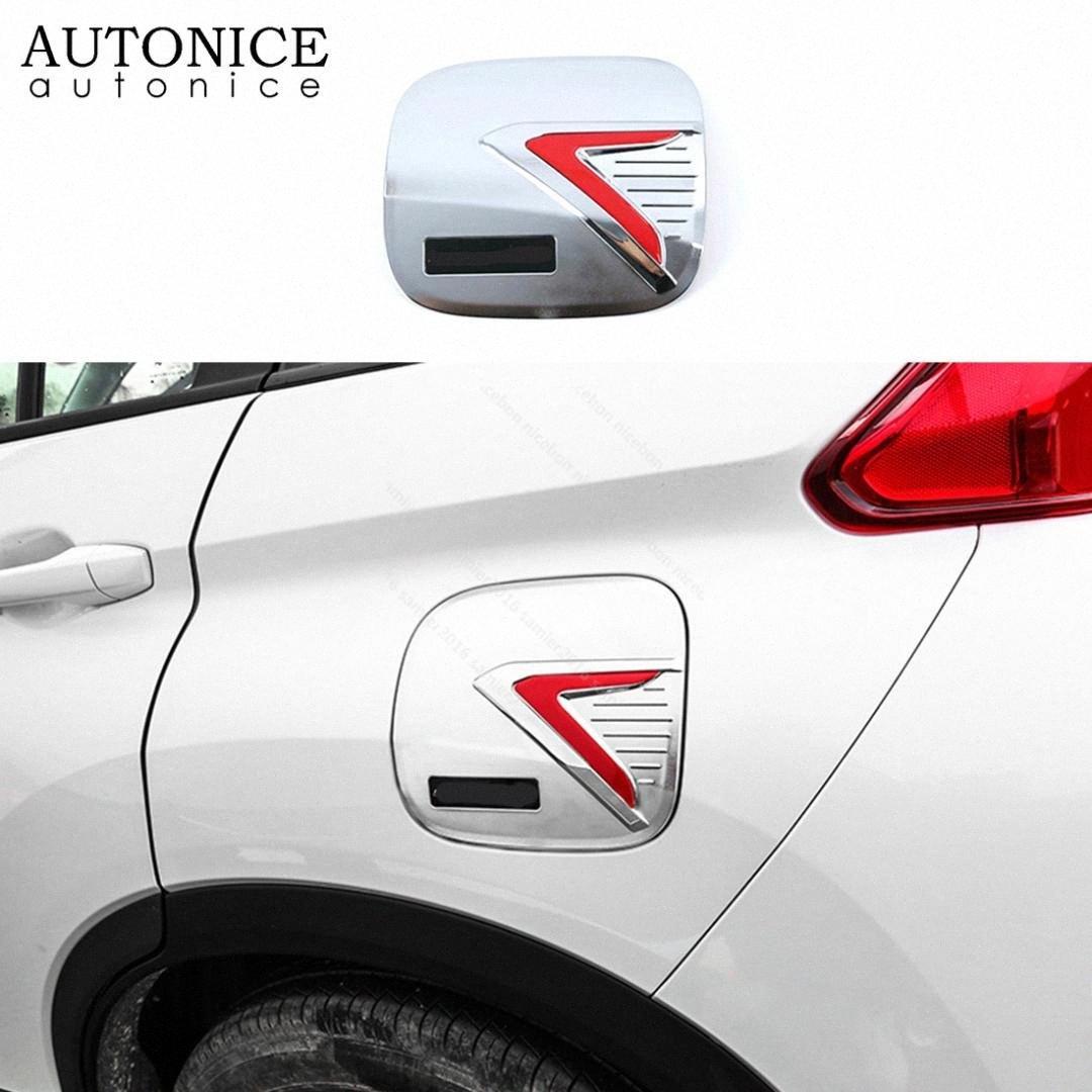Carbon-Faser-Farbe Fuel Tank Decorator Gas-Behälter-Abdeckung gepasst für Mitsubishi Eclipse Kreuz 2018 2019 2020 ABS ybdI #