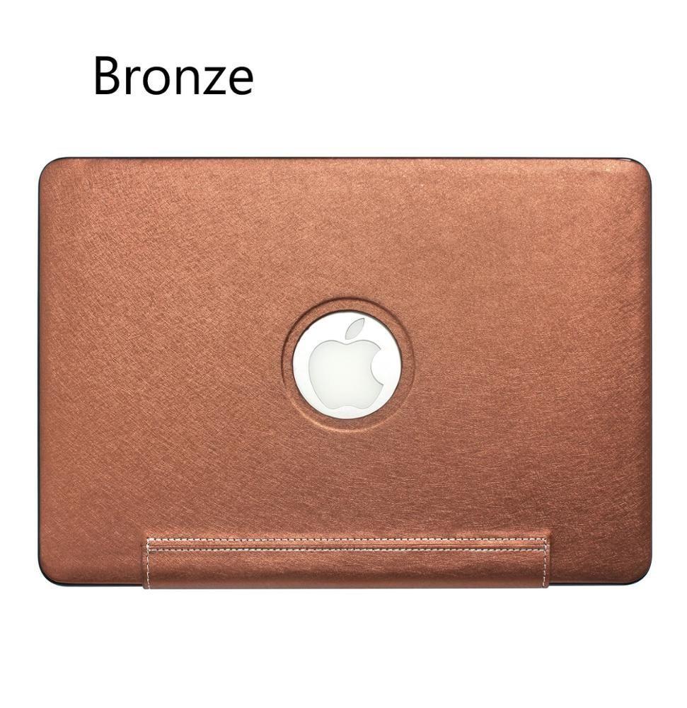 Caso para el aire de MacBook Pro de 13,3 pulgadas táctil barra de mezcla de la PU de la piel del ordenador portátil protección completa del cuerpo caso de Shell Cubierta para macbook 13.3 del aire (A1932)