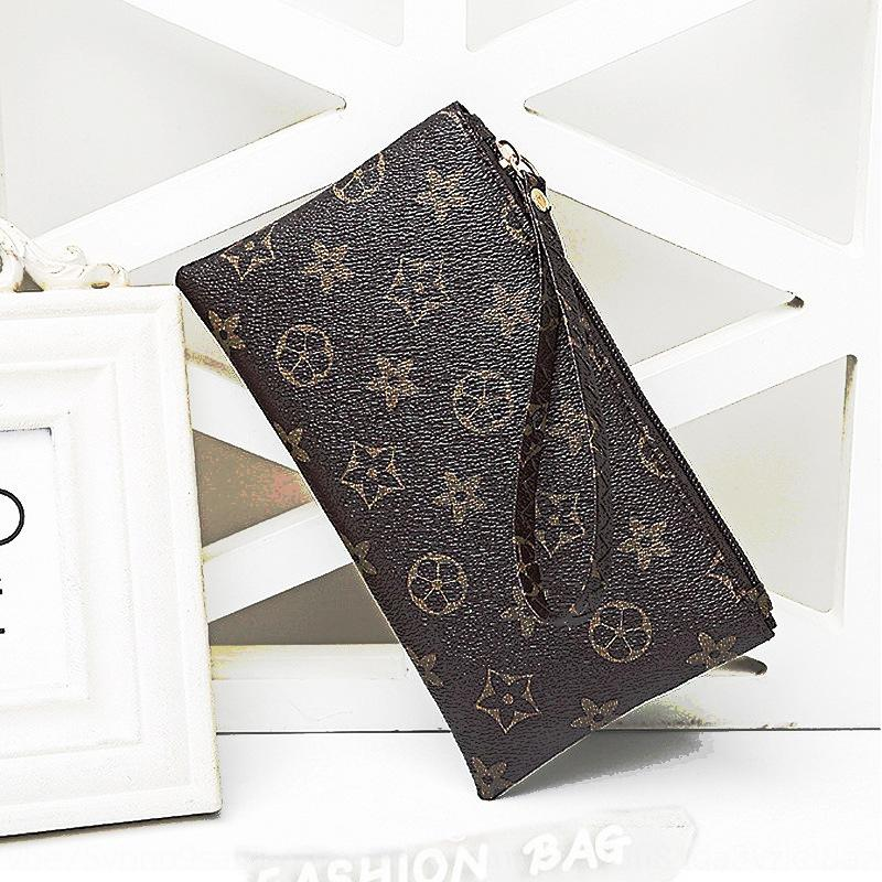2020 nova mão mão das mulheres saco de telefone celular PU moeda floral bolsa saco de telefone zipper pulso
