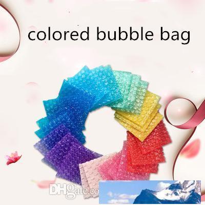 Blase Dämpfung Wrap Beutel Farbe Blase Schutz Verpackungs-Beutel verdicken Druckfest Stoßsicher Transparent Eilbeutel Geschenkverpackung Mailer