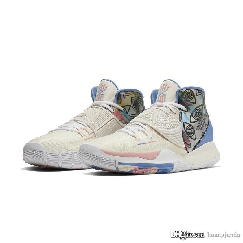 Womens Kyrie 6 zapatos de baloncesto de Los Ángeles La Manila Shanghai CNY niños Lebron James 17 nuevos Kyries tenis Irving vi Esponja zapatillas de deporte con la caja