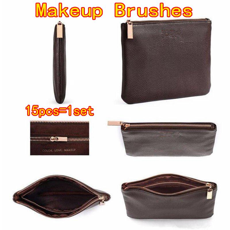 make up brushes 15pcs set Professional Rose Gold Makeup Brush Eyeshadow Eyeliner Blending Pencil Cosmetics Tools With Bag