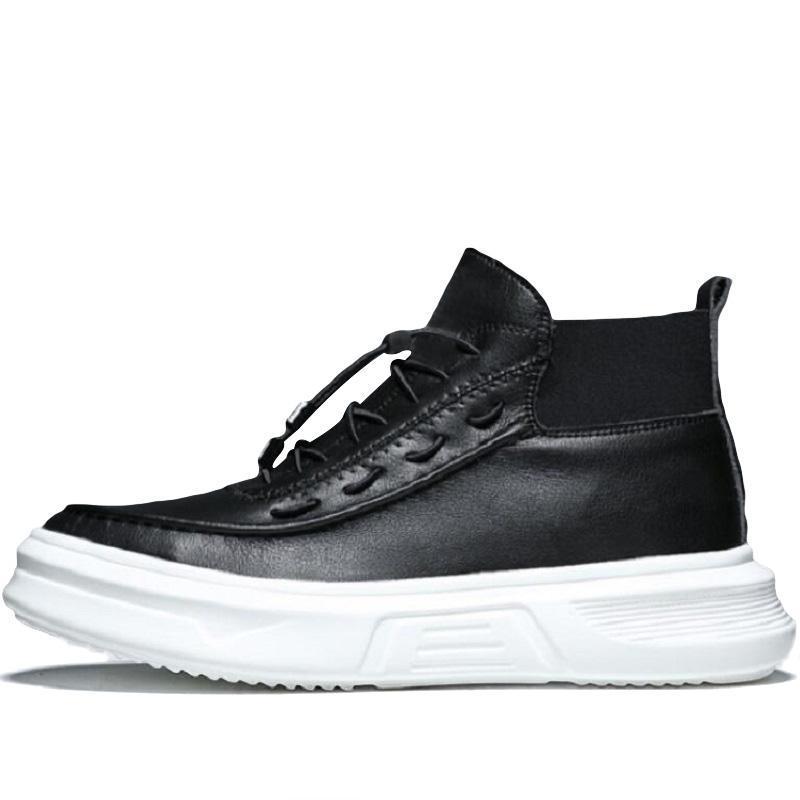 топ мужской прилив обувь дикого высокие верхней обувных мужчины Ins тенденция доска прилив тройной черный белого размером 40-44 продажи онлайн