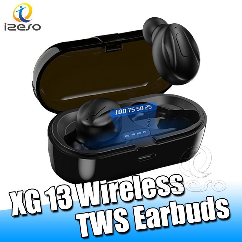 350Mah iPhone 12 Samsung Note 20 izeso için Kutusu Şarj ile Kablosuz Bluetooth Kulaklık XG13 CVC8.0 Gürültü Azaltma HD Kulak Kulaklık