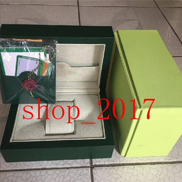 XX Luxe Vert foncé Coffret cadeau cas pour Rolex Montres Livret cartes Etiquettes et papiers en anglais Montres suisses Boxes520