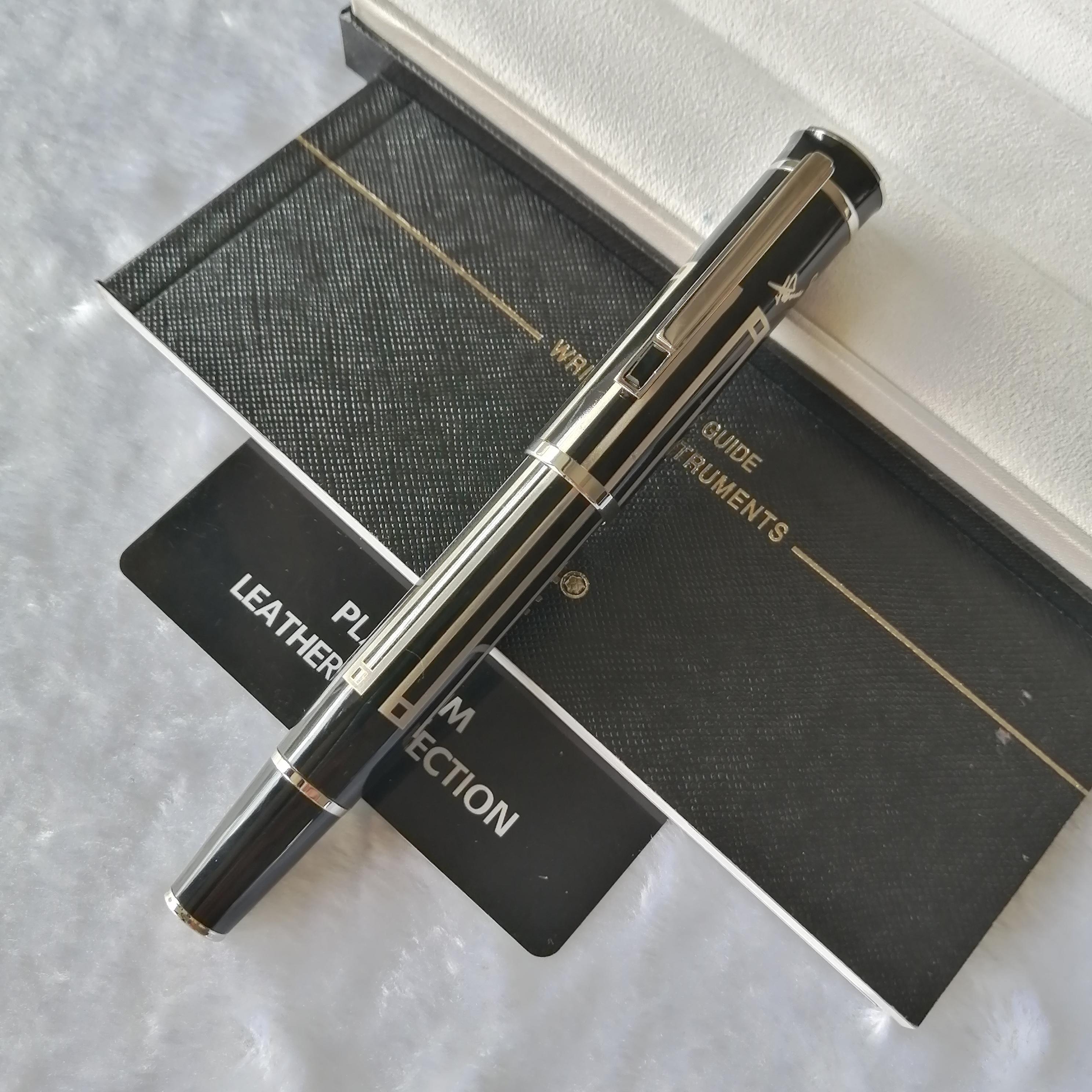PM grand écrivain de la série Thomas Mann édition spéciale numéro série d'écriture de luxe en douceur Rollerball Pen + cadeau + peluche Recharge poche