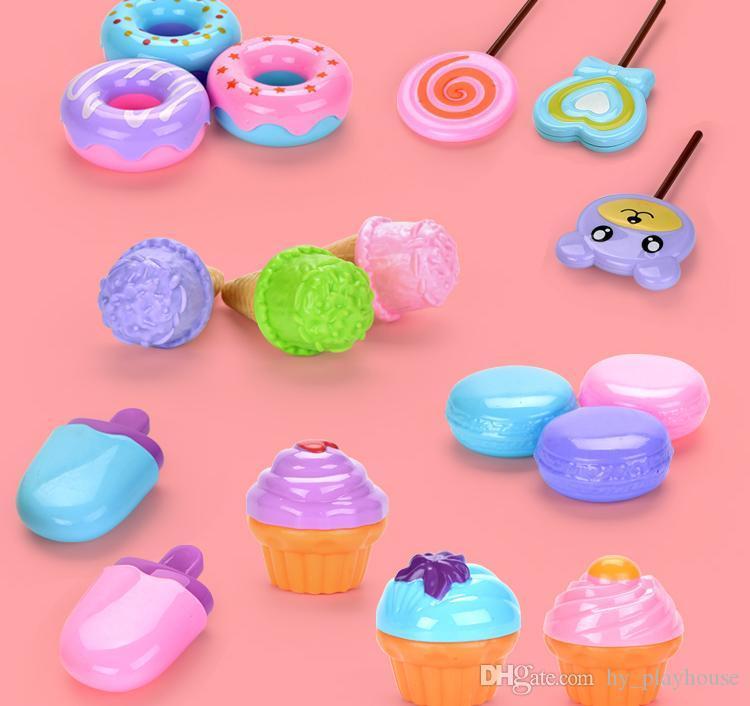 милый красочные играть дома полдник приготовления пищи серия набор продуктов питания кухни мороженые десерты синтезированного дизайн для девочек малыша игрушки