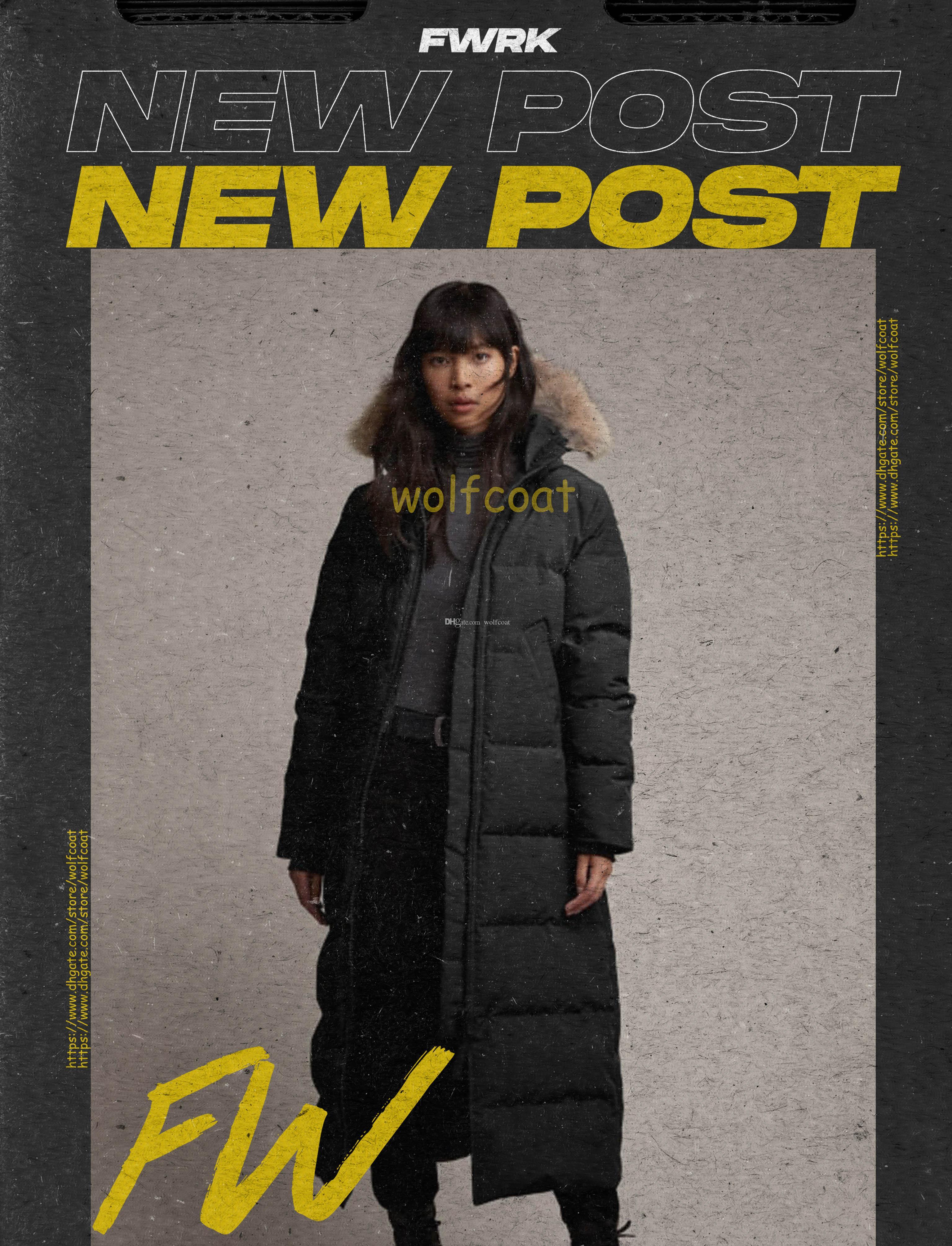 أعلى ستر الشتاء الإناث أسفل سترة المرأة الملابس معطف اللون معطف سترة الأزياء طويلة الأكمام عارضة ضئيلة في الهواء الطلق هود سميكة