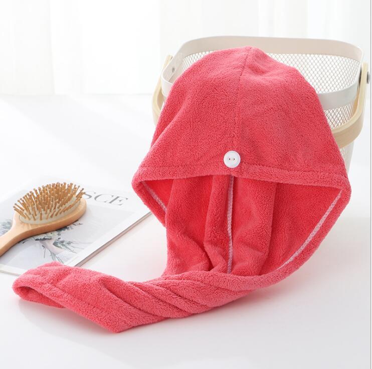 Полотенца Microfiber SPA Сухие колпачки для волос Душевое сухое полотенце DWA841 Caps Magic Fairberbent IMHN Wrap Turban Quick Beating Beaning Super Hat D TLXV
