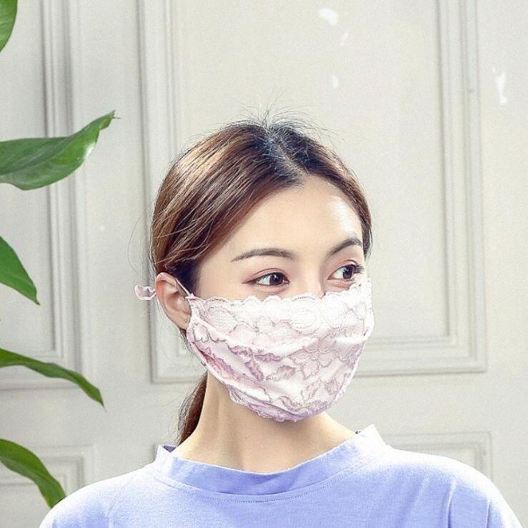 Respirável Lace Designer Máscara Facial lavável Muti-cor máscaras tampa reutilizável proteção protetor solar macia Mouth máscara máscaras partido DHB1 fx54 #