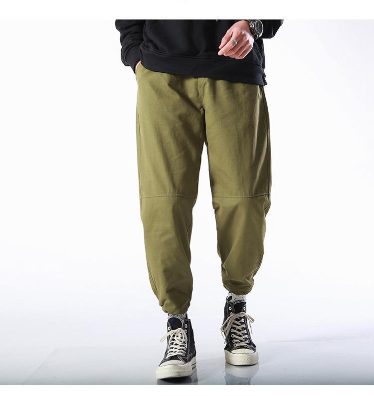 ذكر شحن سروال فضفاض للياقة البدنية الصلبة لون بنطلون هوب مصمم البوب متعدد جيب ملابس رجالي موضة