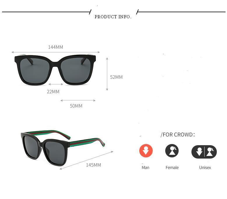أزياء الرجال الجديد والمرأة النظارات الشمسية الأكثر مبيعا OCCHIALI دا فيرماتي نظارات البرية للجنسين الشخصية النظارات الشمسية النظارات الوحيدة مع مربع