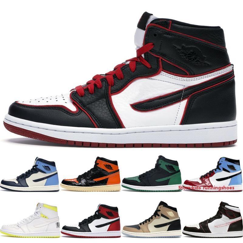 Máximas qualityTop 1 Womens Basketball 1S alta Mens Shoes Jumpman Designer Bloodline Pine Verde Black quebrado encosto 3.0 Obsidian UNC S