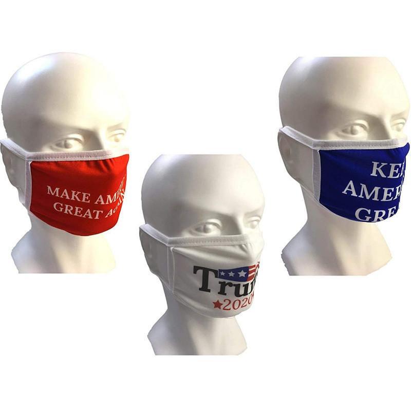 Mascherina di modo Trump Elezione Tenere americano Grandi Maschere Adulti Uomini donna traspirante coperture antipolvere protezione All'aperto Maschere 3 colori