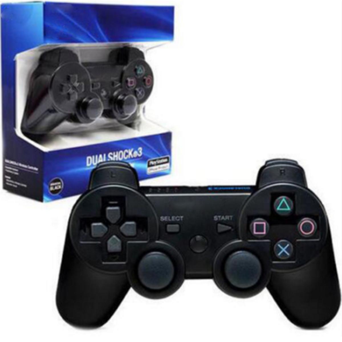 Controller di gioco di vendita caldi Controller wireless Doppio shock per PS3 Portable Video Game Palyer Game Console con scatola